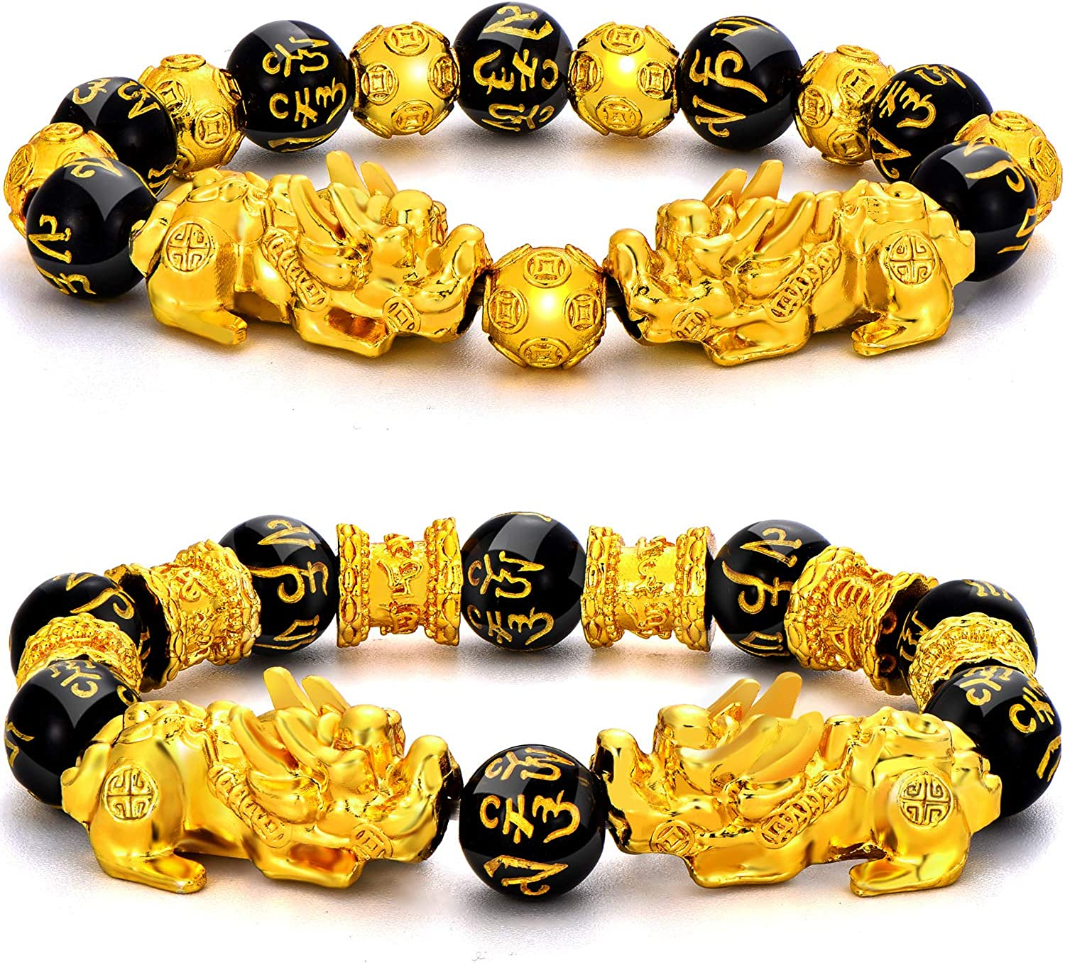 5 pieces gold large tree amulets