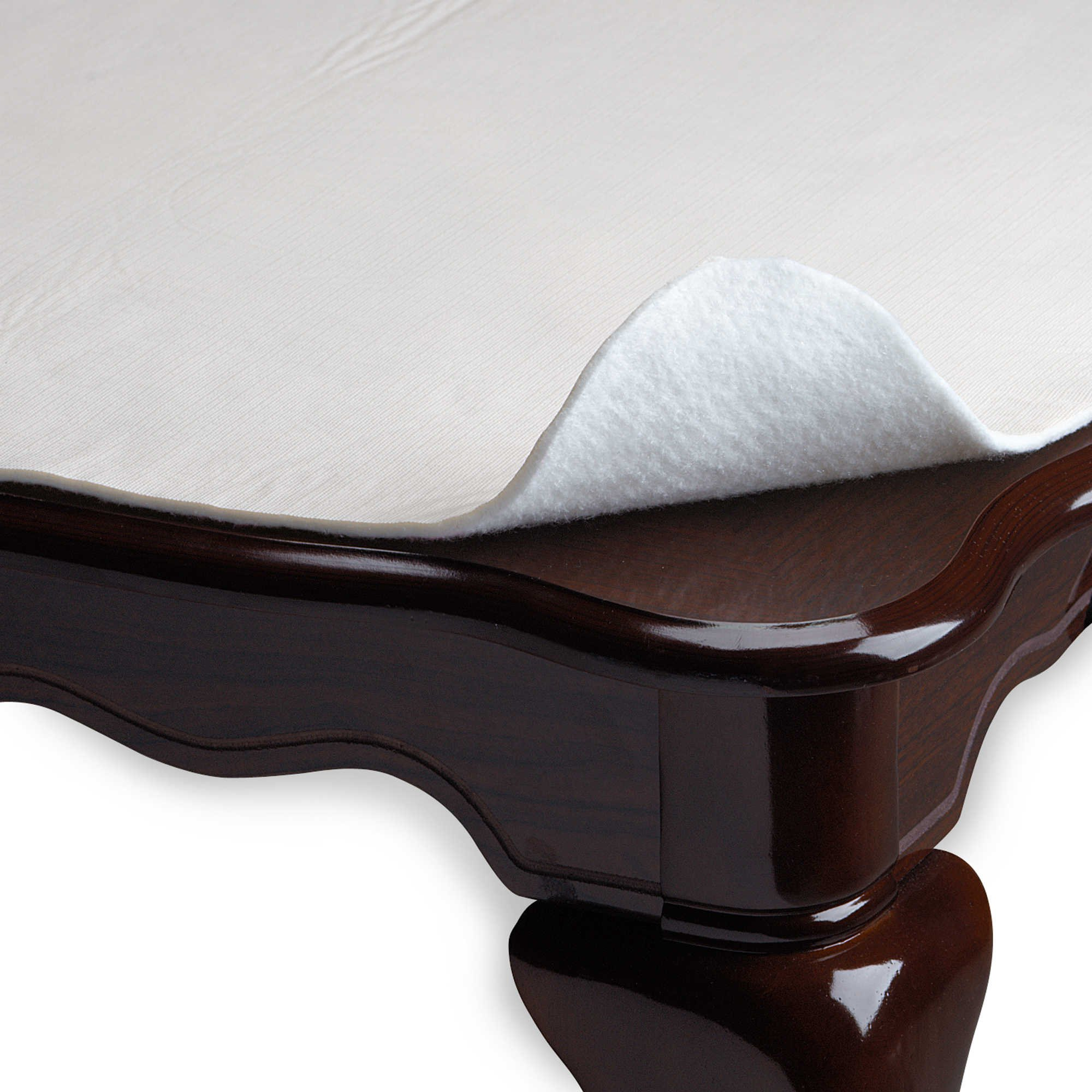 Vinyl Table Pad 52-Inch x 70-Inch Oblong Ivory, Helps Protect Tables from Scratches and Spills