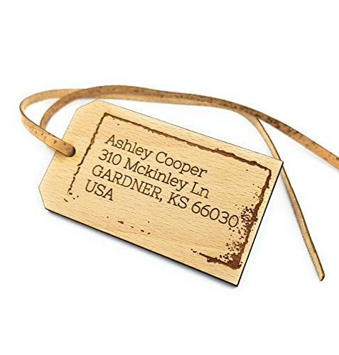 Wooden Luggage Tags Wooden Gift Tag Custom Gift Tag Personalised Engraved Wooden Luggage Tag