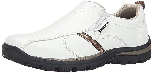Skechers - Mocasines para hombre Blanco blanco/negro: Amazon.es: Zapatos y complementos
