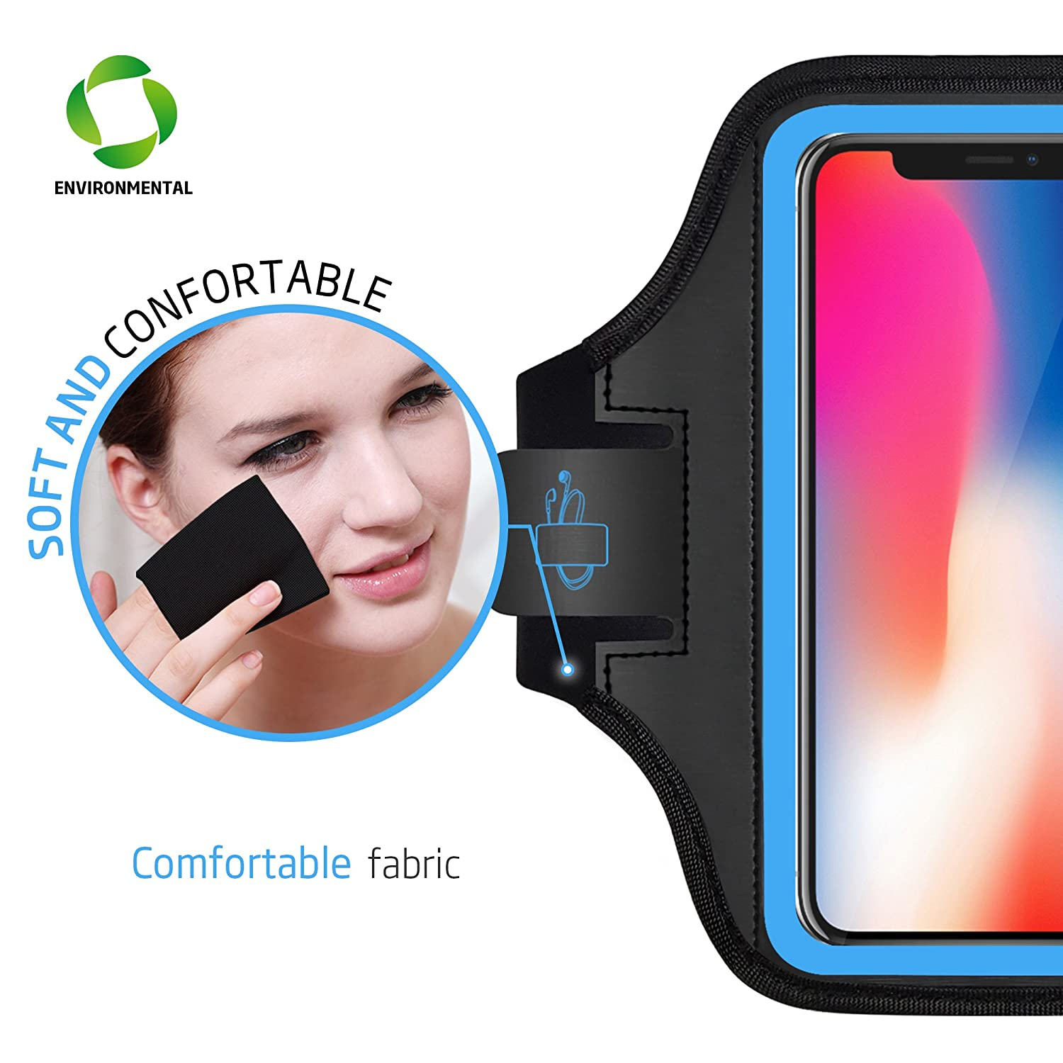 Sport Running Exercise Gym Case with Key Holder /& Card Slot,Fingerprint Sensor Access Supported and Sweat-Proof LOVPHONE iPhone 11 Pro//iPhone 11//iPhone XR Armband