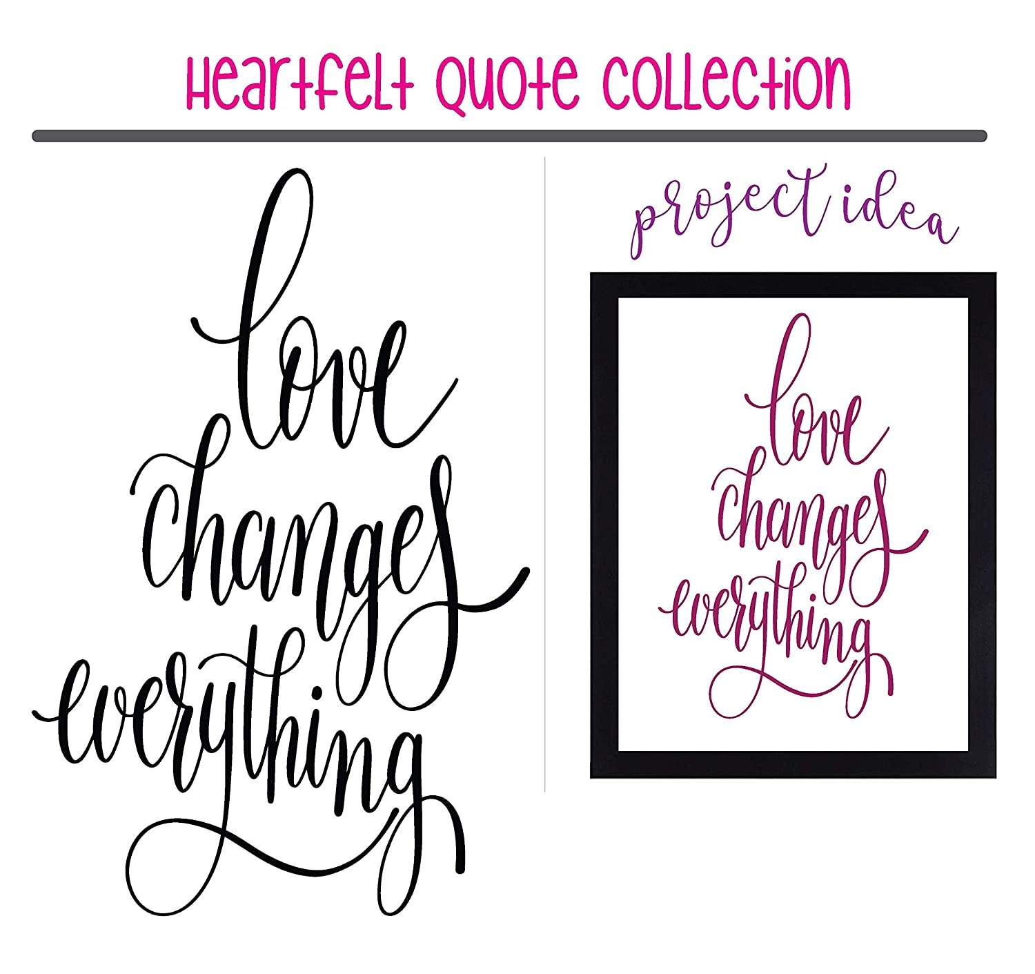 Sized for Farmhouse Canvas Metal or Framed Sign Vinyl Graphic Decal Sticker Can be Used for Vehicle Window Cooler Mirror Safe || High Quality Outdoor Rated Vinyl Love Changes Everything