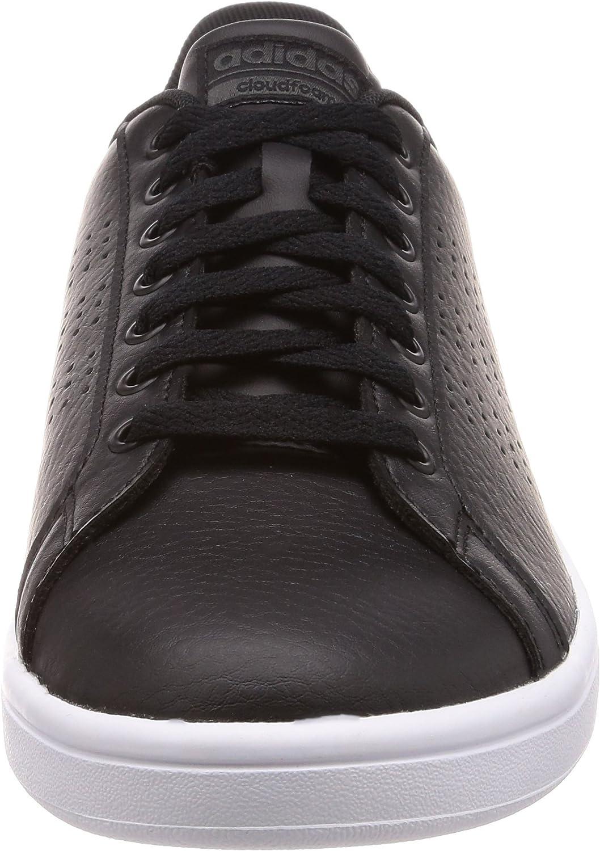 adidas Cloudfoam Advantage, Chaussures de Tennis Homme Noir Core Black Core Black Dgh Solid Grey