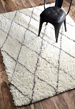 NuLOOM Varanas Collection Marrakech Contemporary Transitional Shags Hand  Made Area Rug, 5 Feet By 7
