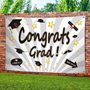 ERKOON Large Graduation Party Banner, for 2020 Graduation Sign Party Decor Graduation Decorations Indoor or Outdoor