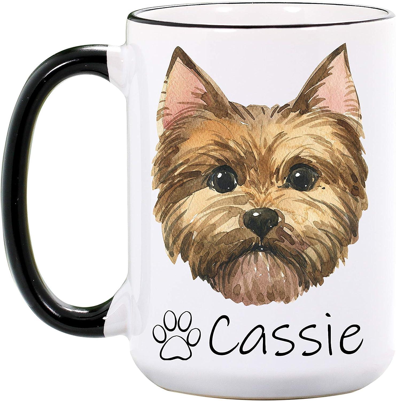 Yorkshire Terrier Dog Ceramic Mug by paws2print