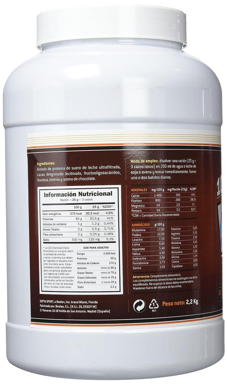 SOTYA Proteína Whey 100% Chocolate Belga 2.2 kg: Amazon.es: Salud y cuidado personal