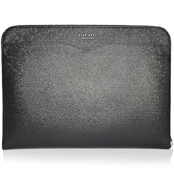 dc18b5a4a6 BOSS Hugo Boss Leather Signature Portfolio Black One Size  Amazon.co ...