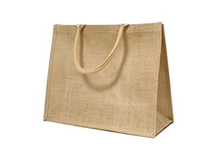 7b20059119e Image Unavailable. Image not available for. Colour  Wholesale Jute Hessian  Large Shopping Bags ...