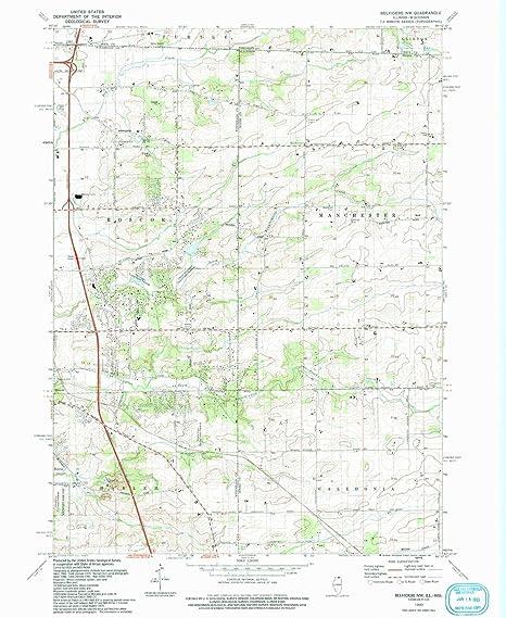 Amazon Com Yellowmaps Belvidere Nw Il Topo Map 1 24000 Scale 7 5