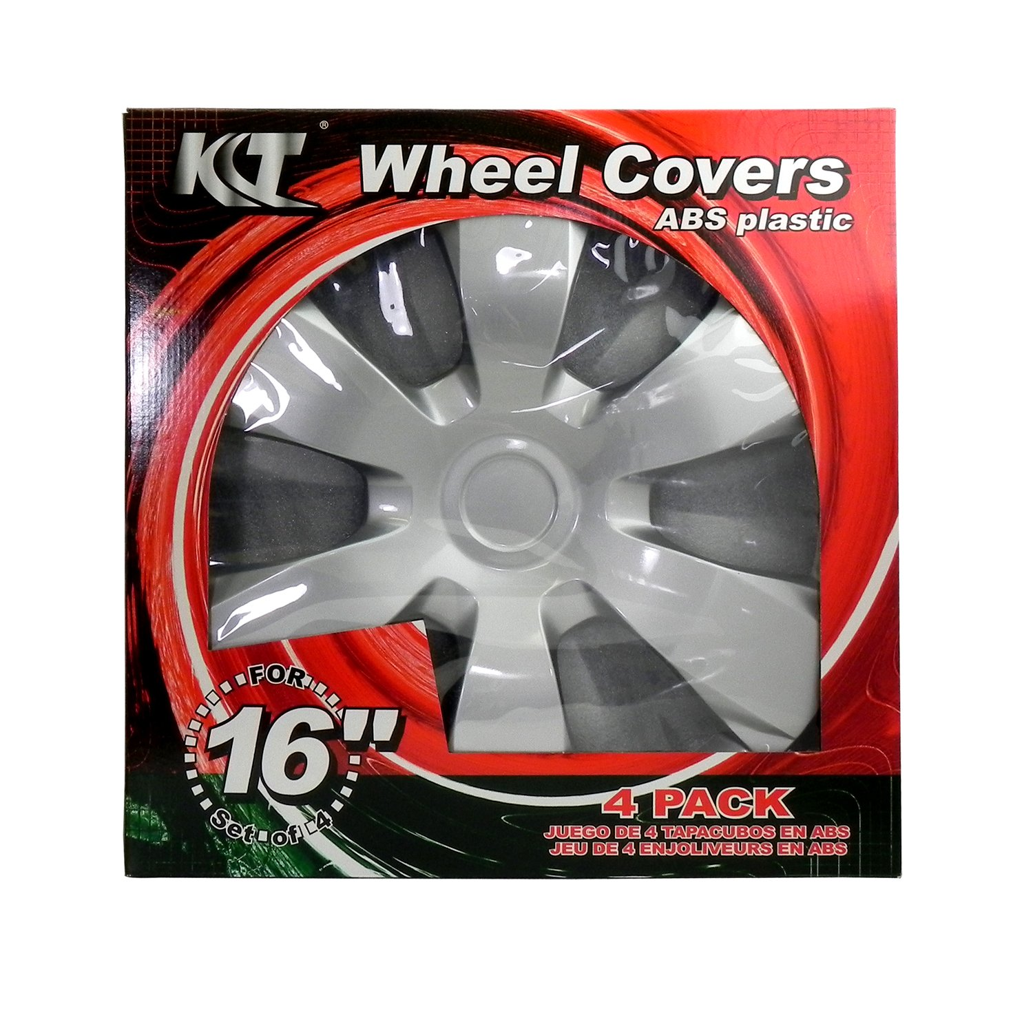 Amazon.com: Set of Four Silver Replacement Wheel Hubcaps 16