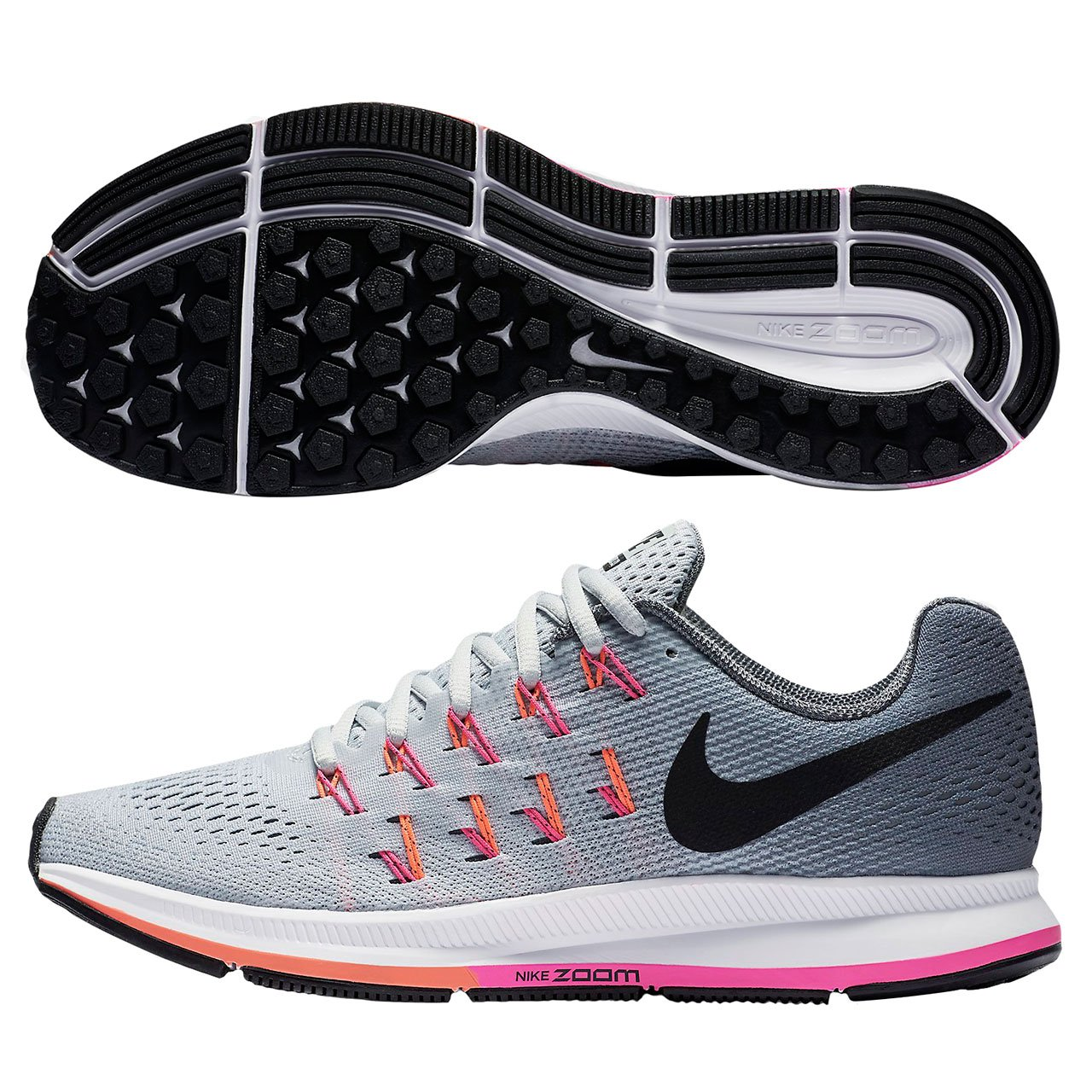 Comprimido recuperación Demon Play  Buy Nike Women's Air Zoom Pegasus 33 (Wide) Running Shoe  Platinum/Black/Grey/Pink Blast Size 8. 5 Wide US at Amazon.in