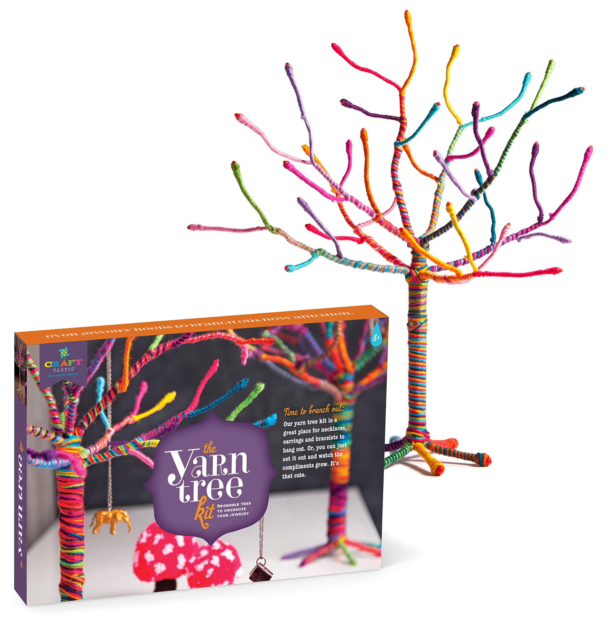 Craft-tastic - Yarn Tree Kit - Craft Kit Makes One 18'' Tall Jewelry Organizer by Craft-tastic