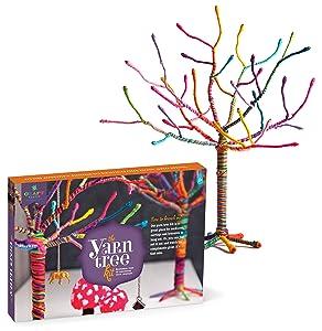 """Craft-tastic - Yarn Tree Kit - Craft Kit Makes One 18"""" Tall Jewelry Organizer"""