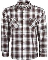 TUNDRA Mens Check Shirt Long Sleeve Work Lumberjack Casual Pockets Lightweight