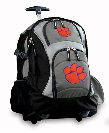 Amazon.com : Clemson Rolling Backpack or Clemson Tigers CarryOn ...