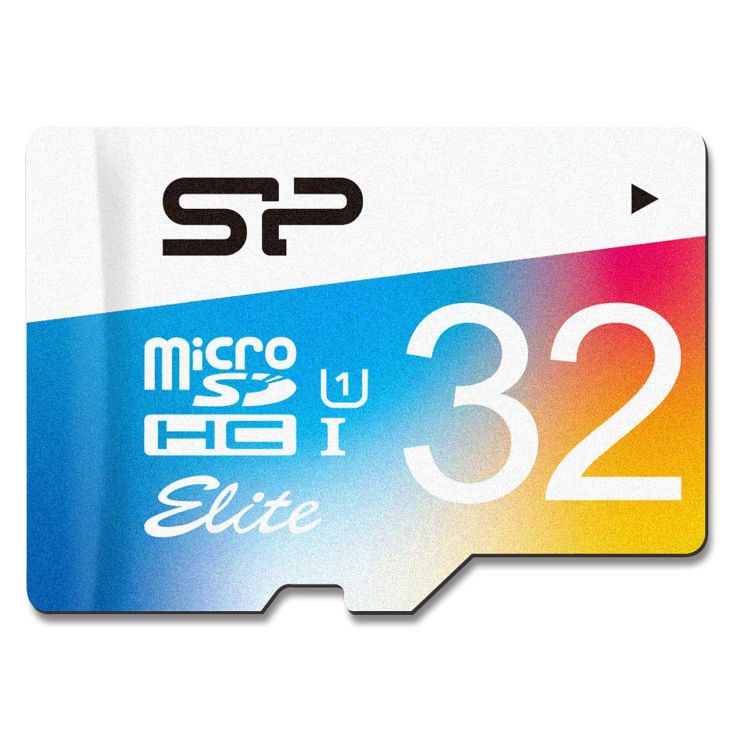 Silicon Power 32GB MicroSDHC UHS-1 Memory Card - with Adapter (SP032GBSTHBU1V20UR)