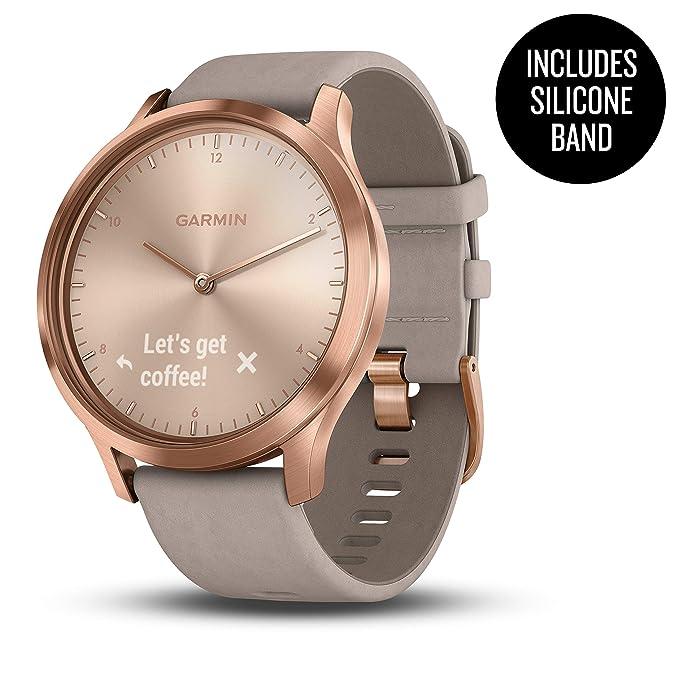 Garmin vívomove HR, Hybrid Smartwatch for Men and Women, Rose Gold ...
