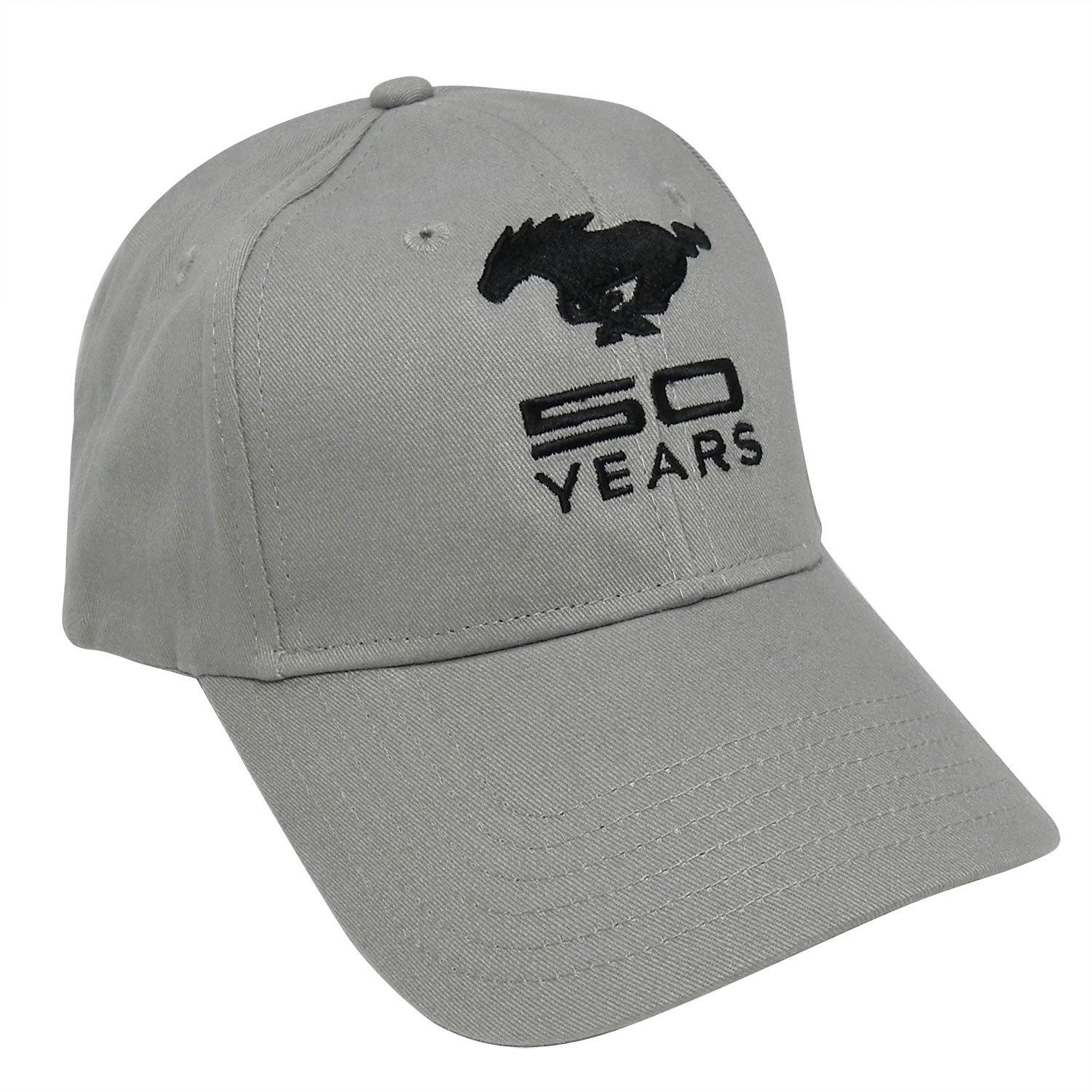 Ford Mustang 50th Years Anniversary Gray Baseball Hat Hot Rod Plus 5559018648