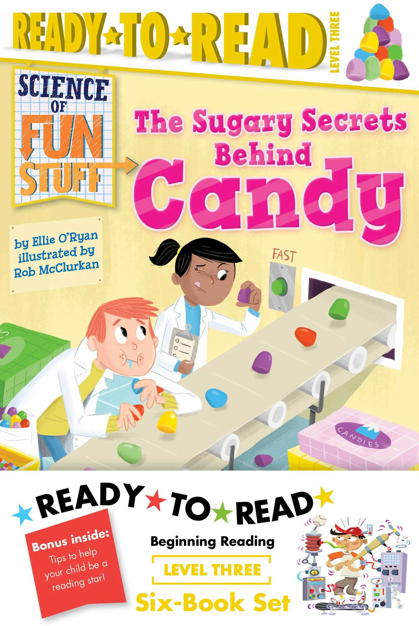Science of Fun Stuff Ready-to-Read Value Pack: The Sugary Secrets Behind Candy; The Innings and Outs of Baseball; Pulling Back the Curtain on Magic!; ... How Airplanes Get from Here...to There! by Simon Spotlight