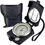 AOFAR Military Compass,AF-4580 Lensatic Sighting, Waterproof and Shakeproof with Map Measurer Distance Calculator, Pouch…