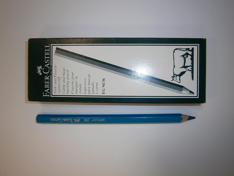 Matita per macellai per marcare la carne - Blu - 12 matite Faber-Castell ref. 21 69 84