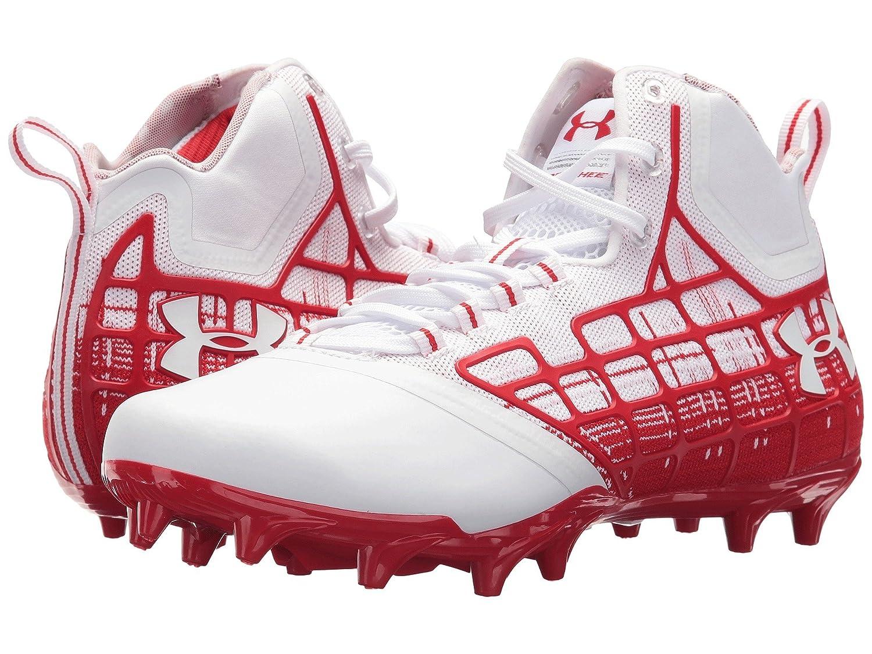(アンダーアーマー) UNDER ARMOUR メンズ野球ベースボールシューズ靴 UA Banshee Mid MC White/Red 2 7 (25cm) D Medium B07BZN6PKJ