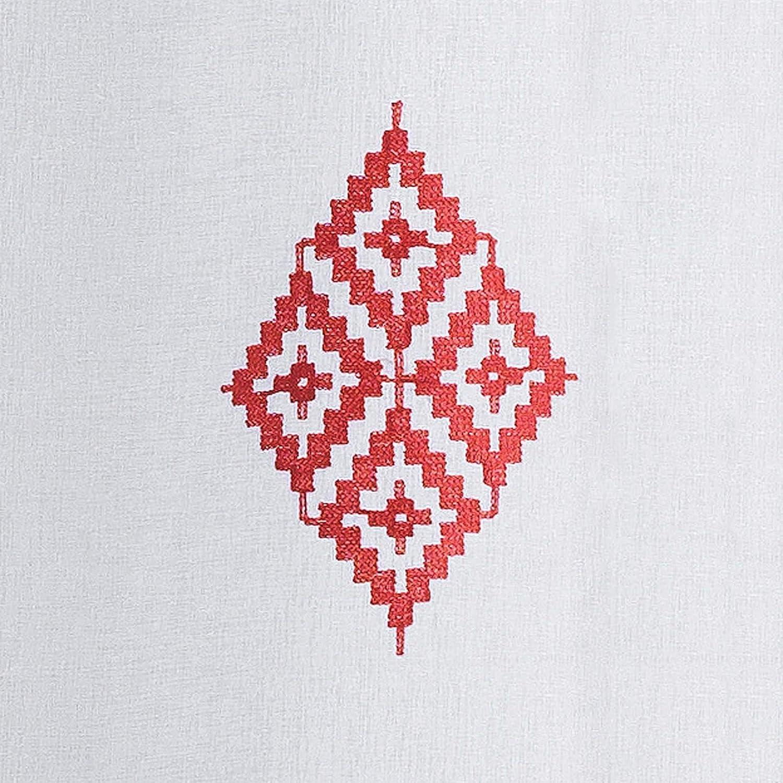 Douceur dint/érieur Pannello a con Occhielli 140/x 240/cm Voile Sabbia Brode Kamina Corallo