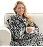 The Original Snuggie - Super Soft Fleece Blanket With Sleeves And Pockets - Leopard