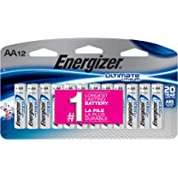 12 Count Energizer Ultimate Lithium AA Batteries