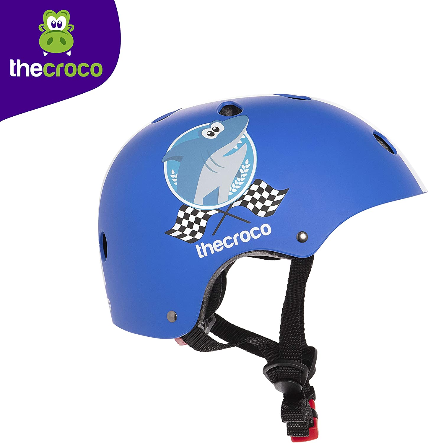 TheCroco Balance Bike Helmet Adjustable for Kids 3 to 6, CPSC ASTM Certified