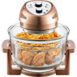 Big Boss Oil-less Air Fryer, 16 Quart, 1300W, Easy Operation with Built in Timer, Dishwasher Safe, Includes 50+ Recipe…