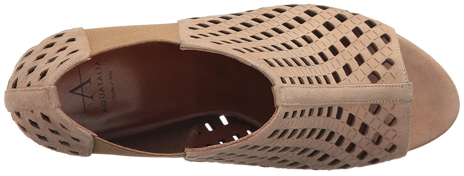 Aquatalia by Perforated Marvin K. Women's Shari Perforated by Suede Ankle Bootie B01N8VRCIK 6 B(M) US|Nude 5eec15