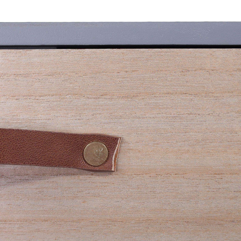 THE HOME DECO FACTORY Table de Chevet Scandinave 1 Tiroir Gris