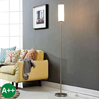 Tischleuchte Vinsta Glasschirm Weiß Tischlampe Flur Schlafzimmer Wohnzimmer E27
