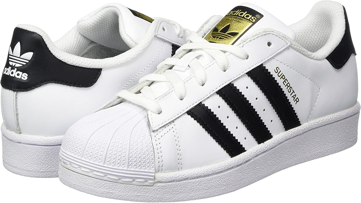 adidas Herren Superstar Turnschuhe Core White Core Black White
