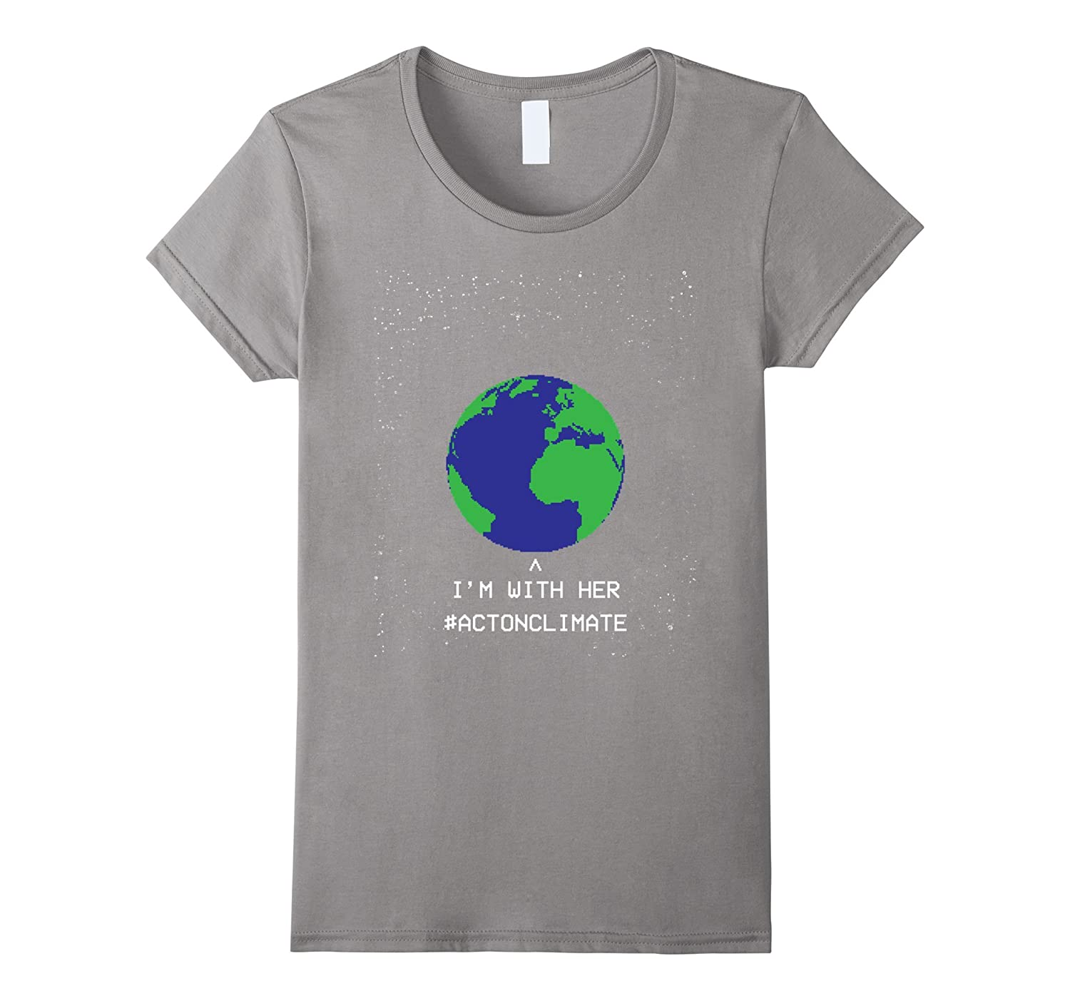 I'm With Her Earth Environment Recycling Organic Green Tee-Teeae
