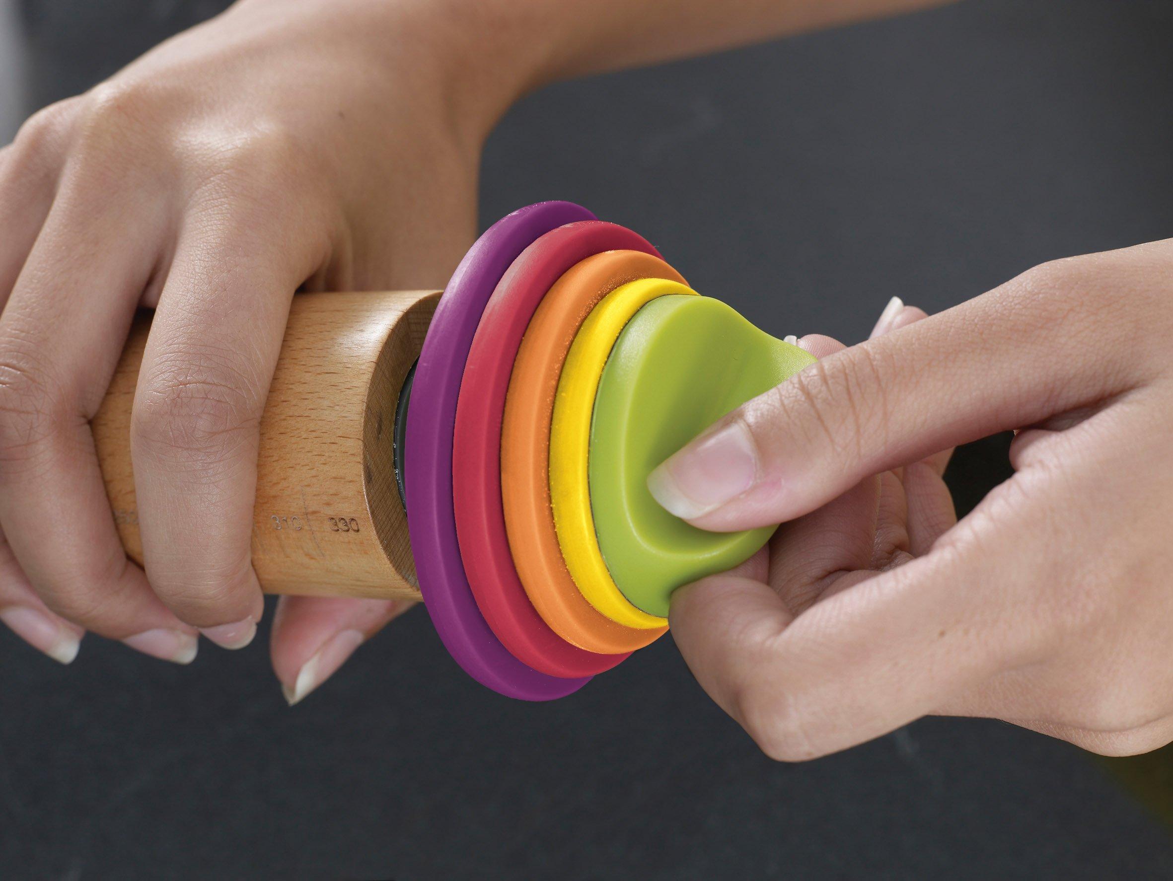 Joseph Joseph 20085 Adjustable Rolling Pin with Removable Rings, Multicolored by Joseph Joseph (Image #5)