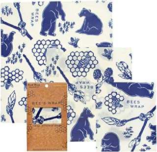 product image for Bee's Wrap Assorted 3 Pack, Made in USA, Eco Friendly Reusable Beeswax Food Wraps, Sustainable, Zero Waste, Plastic Free Alternative for Food Storage - 1 Small, 1 Medium, 1 Large