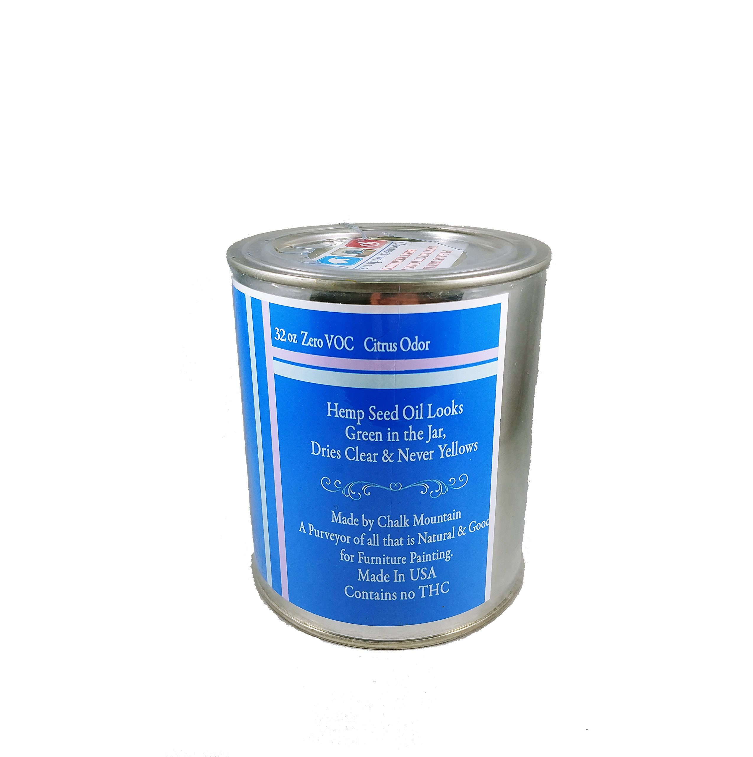 Chalk Mountain Brushes - Hemp Seed Oil Furniture Sealer - Seals and Protects Chalk, and Milk Paint, Furniture, Wood, and much much More! 32oz by Chalk Mountain Brushes (Image #3)