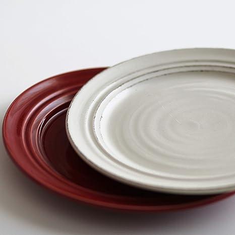 Desconocido Plato Llano - Plato Grande - Blanco - Pottery - cerámica Hecho en Portugal -