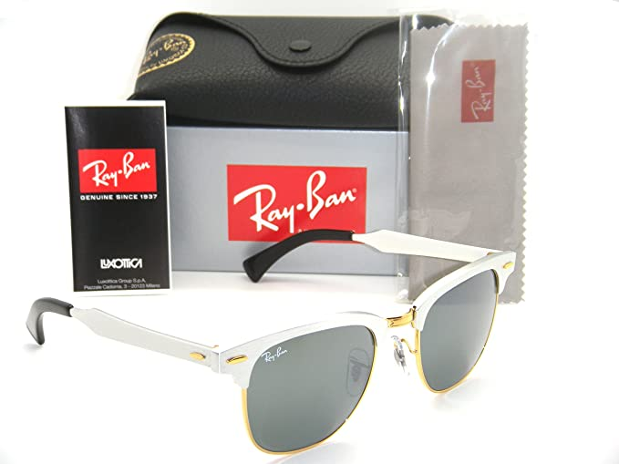 d53158b5209 Image Unavailable. Image not available for. Colour  Ray-Ban Clubmaster  Aluminum RB 3507 137 40 49mm Brushed Silver  Grey Mirror