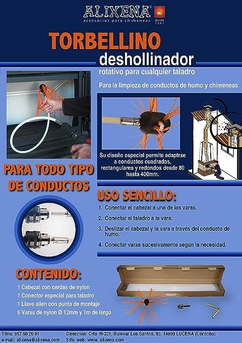 Alixena-Cepillo deshollinador rotatorio torbellino para taladro ...