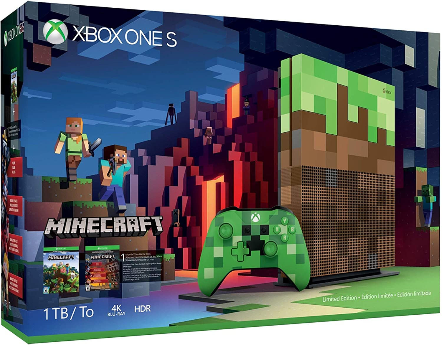 Console Xbox One S - 11 Terabyte + HDR + 11K Streaming + Jogo