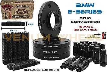20mm 5x120 Wheel Spacers Staggered Kit BMW E60 E61 E90 E91 E92 2 15mm /& 2