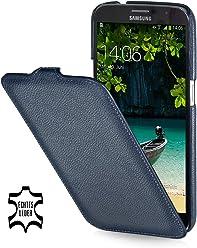 StilGut UltraSlim Case, custodia in vera pelle per Samsung Galaxy Mega 6.3 i9200 Mega LTE i9205 i9208, blu marino