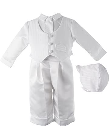 abef2e0ae592e7 Lauren Madison Baby boy Christening Baptism Infant Satin Vest Set with Pant