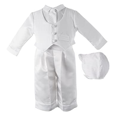 402839c49ce3 Amazon.com  Lauren Madison Baby boy Christening Baptism Infant Satin ...