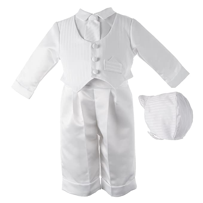 3480836b57a Lauren Madison Baby boy Christening Baptism Infant Satin Vest Set with  Pant  Amazon.ca  Clothing   Accessories