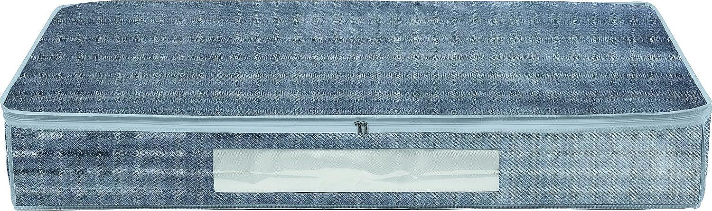 Bambelaa! Underbed Clothes Fbewa Touch of Storage Box Zip Chest Grey Fleece 15x 100x 45cm